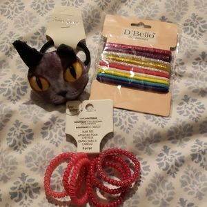 New hair ties accessories cat & others